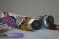 a selection of oil paints