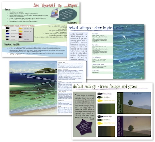 Free Support PDF's when you purchase Mark's latest downloadable tutorial, Tropical Beach V-log.