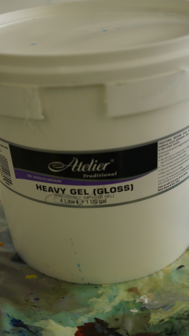 Heavy Gel Gloss.  One of the most fun Impasto Gels to try.  By Chroma Australia.