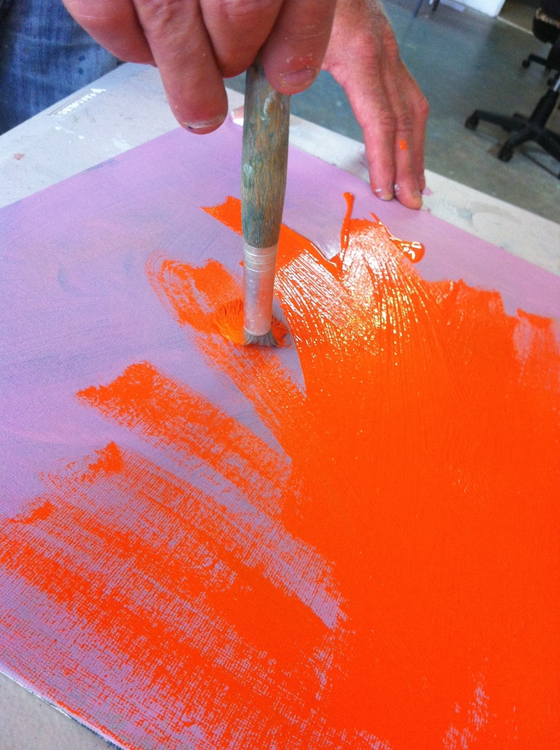 using a bright ground can give a more impressionist appearance to your fabric