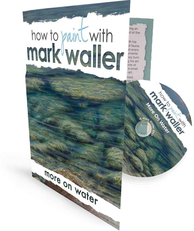 Mark's newest DVD Tutorial - More On Water - learn how to paint a rocky mountain stream, a pebbly beach and expand your painting water knowledge!