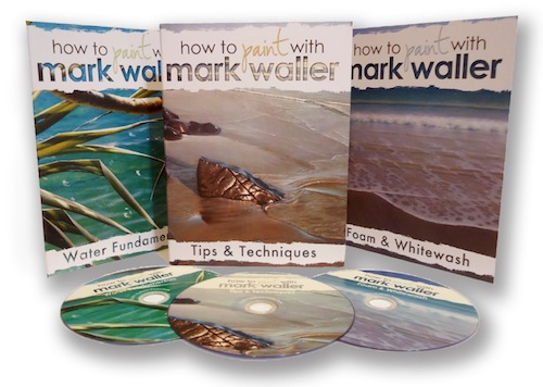 Mark Waller's 3 pack of tutorial DVDs will have you inspired to create and paint, paint, paint!