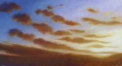Mark's sunset painting tutorial image completed.