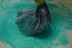 Brush some pigment in with your impasto gel for great colourful textured effects.