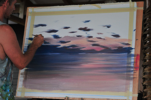 Fiji workshop with Mark Waller.  Paint in Paradise with Paradise Courses.