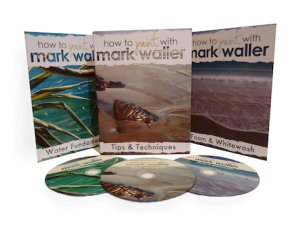 3 pack of instructional How to Paint with Mark Waller DVDs