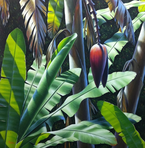 The opportunity for colour and nuance in the large leaves is astounding!