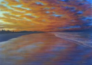 Mark Waller's sunset painting example.  Nice!