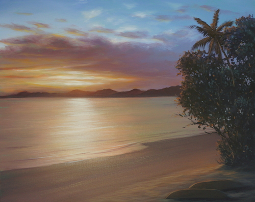 Create this beautiful tropical sunset with Mark Waller's latest downloadable tutorial V-Log,