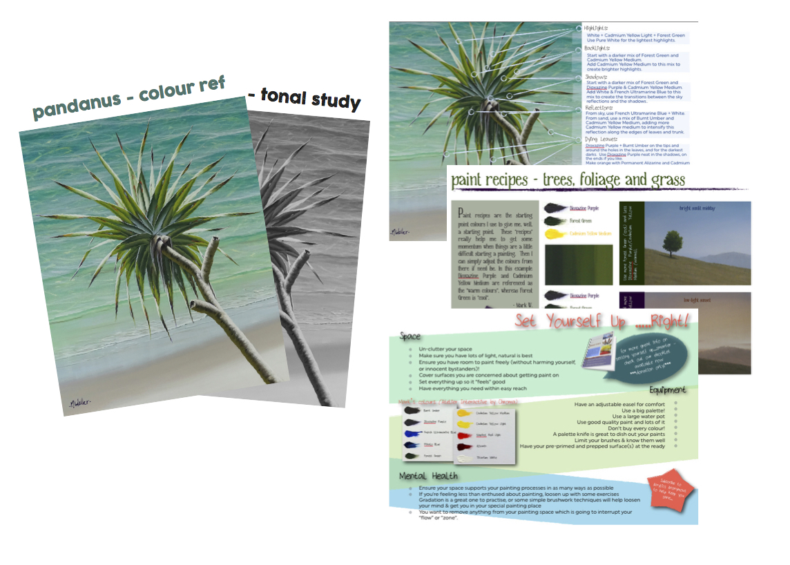 Painting Pandanus - support documentation to this tutorial will expand your learning!