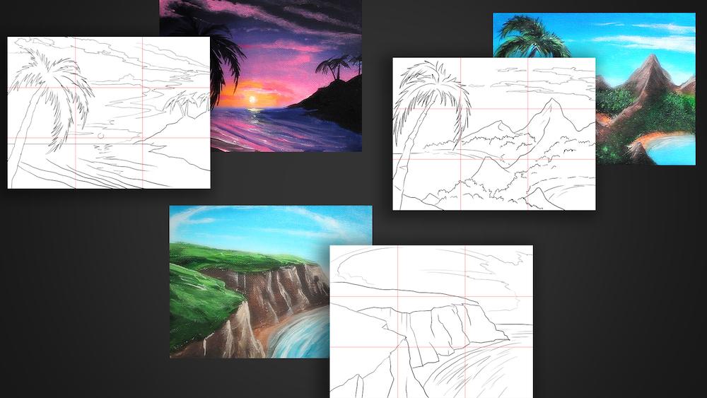 Ryan's 10 minute painting digital sketches.