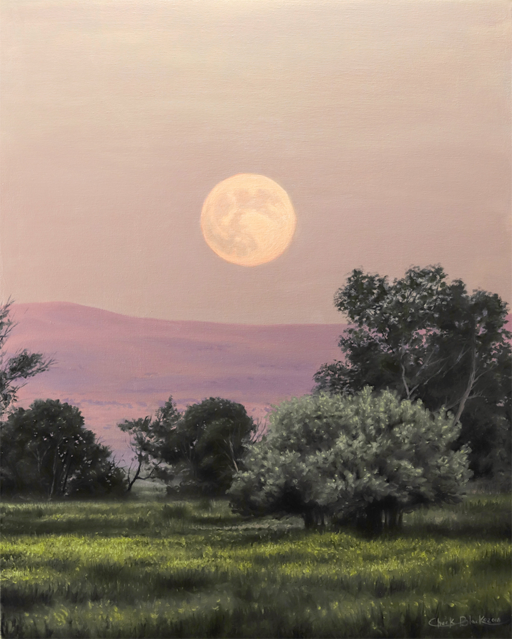 Moon Painting by Chuck Black