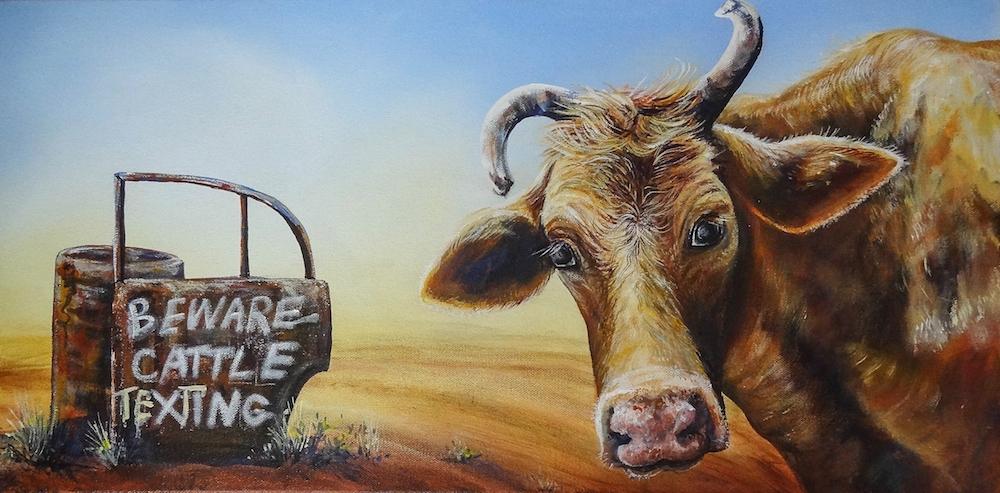 Linda MacAuley's Beware of Cattle Texting