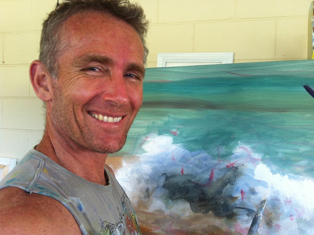 Mark Waller artist - in studio.