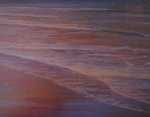 Close observation is the key to painting great ocean landscapes.  Whitewash is not white!