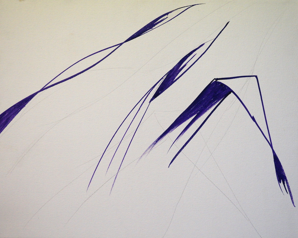 Mark Waller's painting pandanus tutorial - leaves