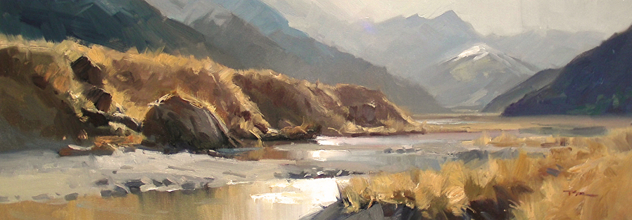 Rees Valley by Richard Robinson, NZ Painter