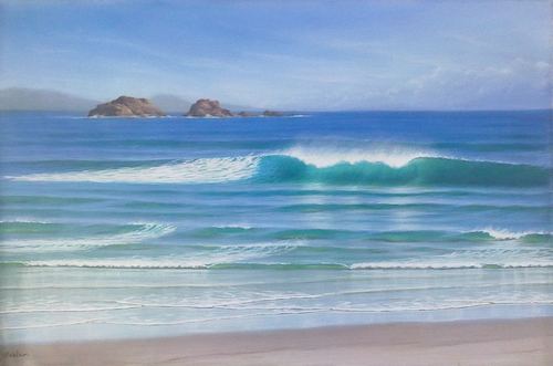 painting waves with Mark Waller.