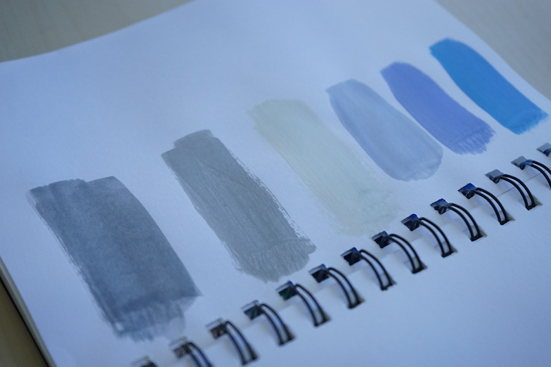 Summer sky and clouds swatches, all is good in the world :)