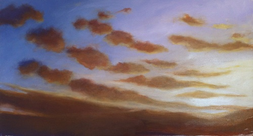 Mark's sunset painting tutorial image.