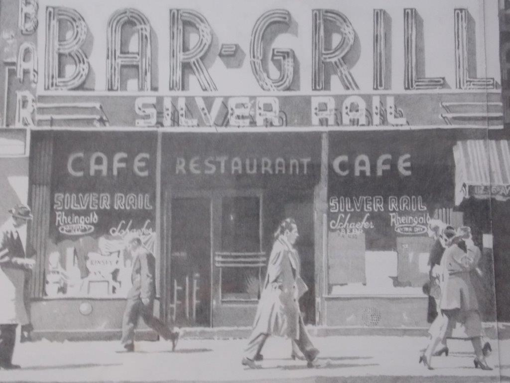 Dick Millott's pencil drawing