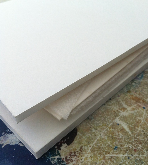 A foam core sandwich with your painting surfaces.