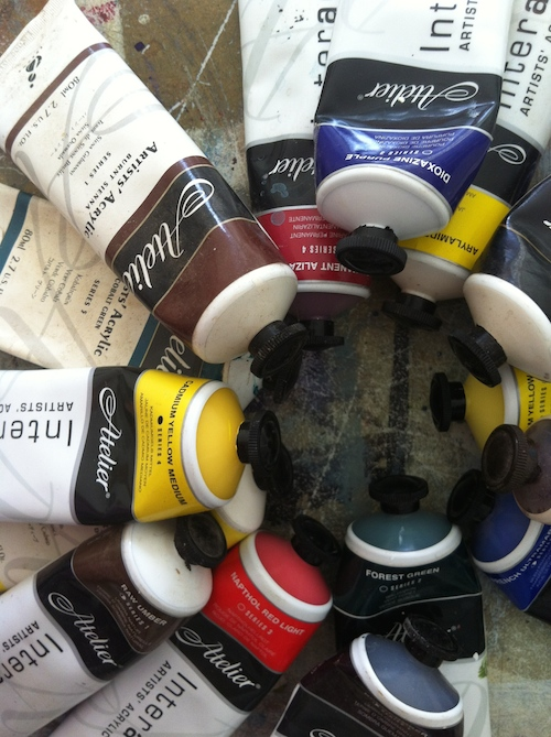 Lay all your paints out and CULL CULL CULL!