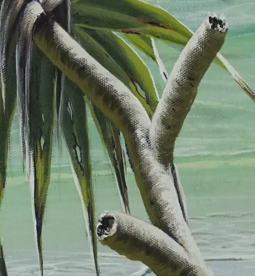 Painting Pandanus - trunk detail