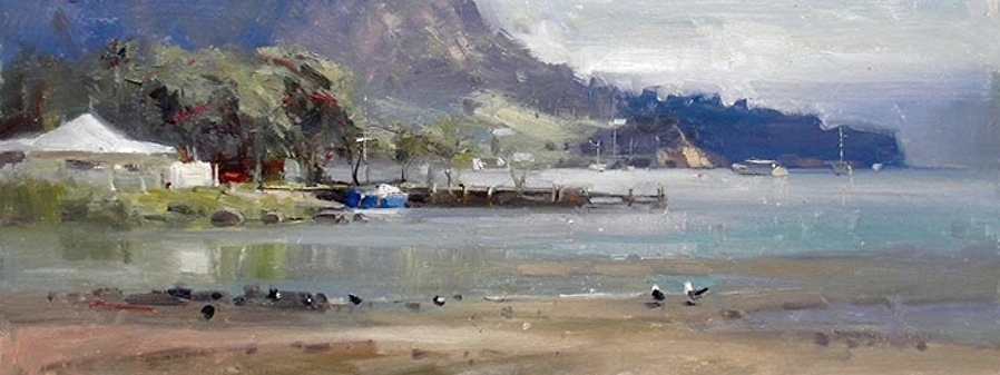 Urquharts Bay by Richard Robinson, NZ Painter