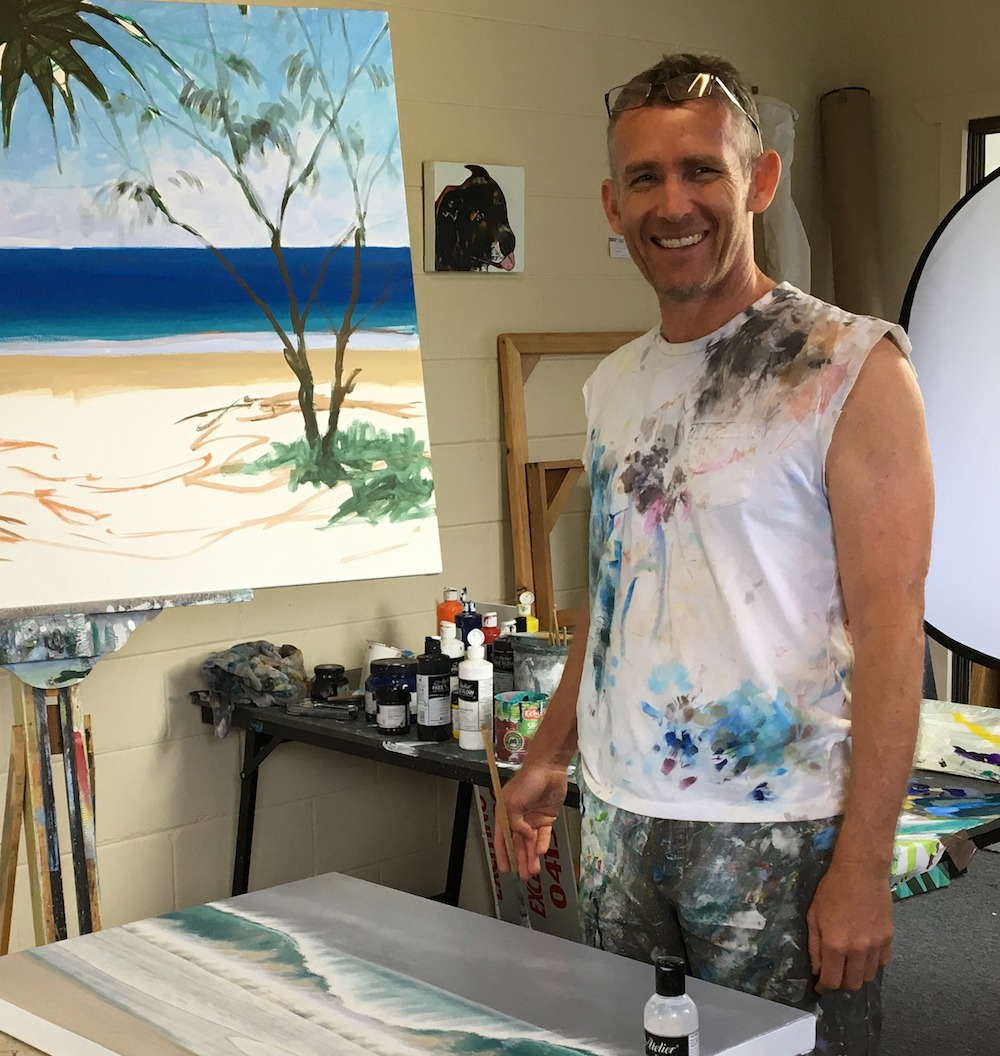 Mark Waller at work in the studio.