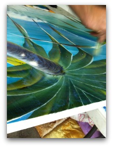 Mark Waller Using Acrylic Sealer To Seal A Painting