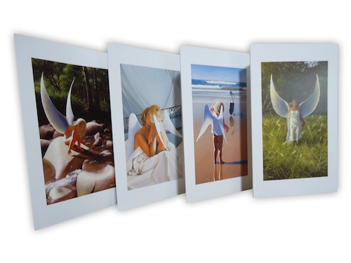 grab yourself a 4 pack of Mark's exquisite angel images, printed on blank cards and in a pack of 4.  Perfect!
