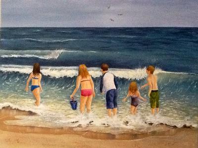 Beach Memories, Acrylic, 22x28