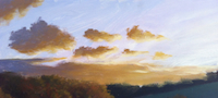 how to paint clouds tutorial with Mark Waller