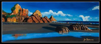 Listen To Ocean- acrylic on canvas, 120cm x 50cm
