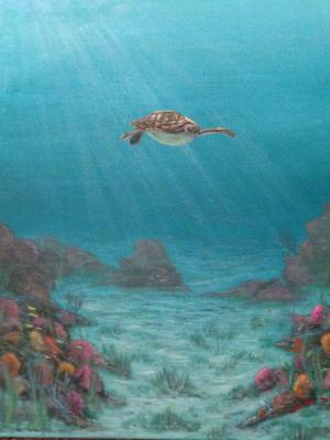 Little Turtle in the Big Sea
