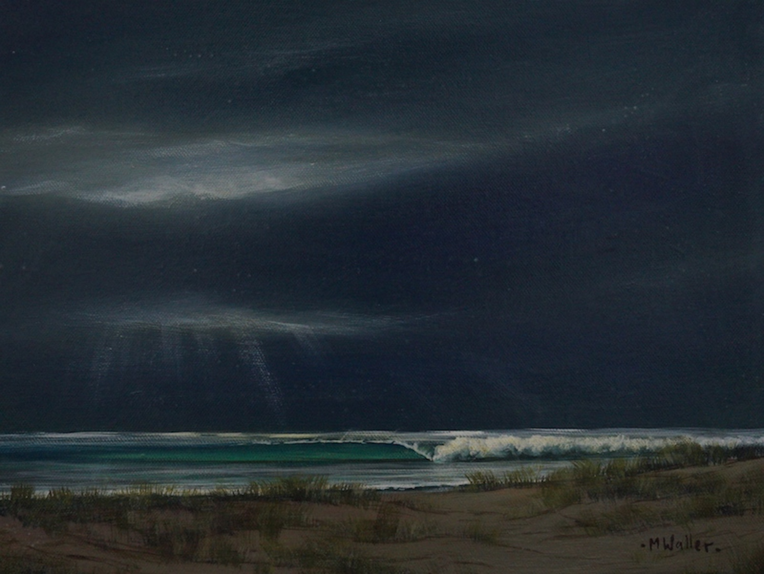 painting a storm, a gorgeous moody example by Mark Waller