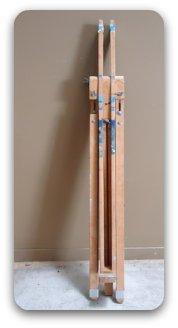 portable easel - long skinny wooden easel