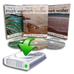 3 pack of downloadable, instructional How to Paint with Mark Waller DVDs