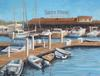 Docked For Dinner - Acrylic, 16x20, stretched canvas