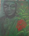 Buddha and Hibiscus