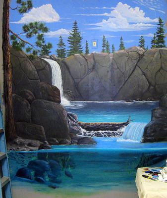 Two Pools Mural