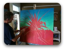 underpainting with a red ground