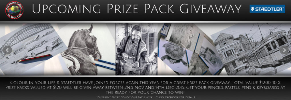 upcoming prize pack giveaway with Staedtler and Colour In Your Life.  See CIYL Facebook page for details.