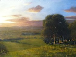 Mark Waller's painting Hills Aplenty done in an impressionism painting style