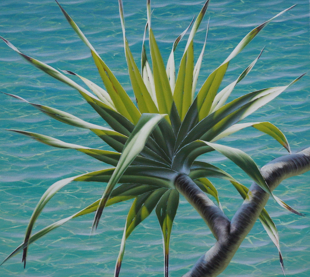 Mark Waller's painting pandanus, finished painting.