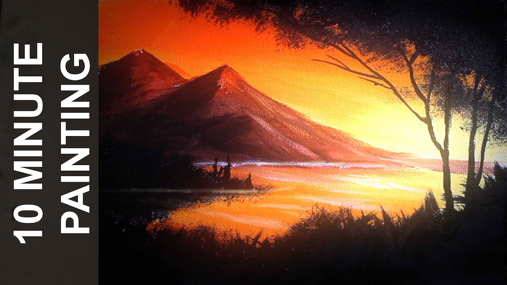 Ryan O'Rourke's 10 minute painting tutorials through his Youtube channel, Stay Creative.