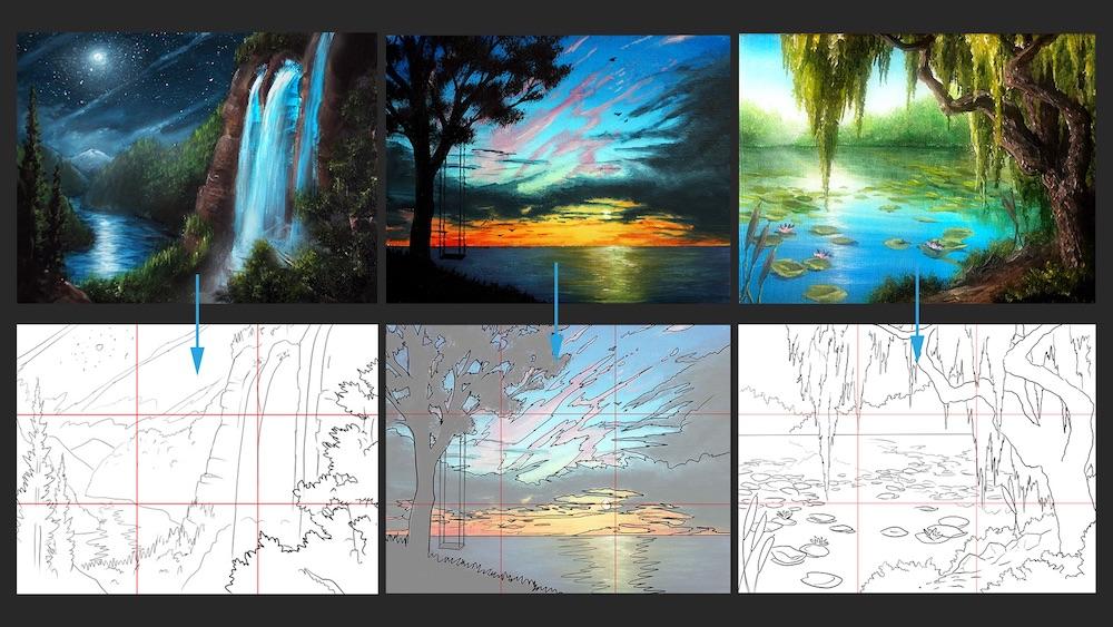 Ryan's 1 hour paintings digital sketches.