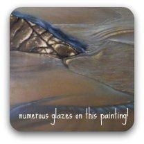 example of acrylic glazing on rocks