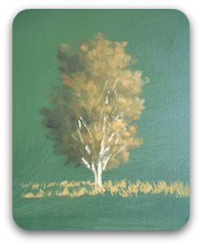 how to paint trees - finished